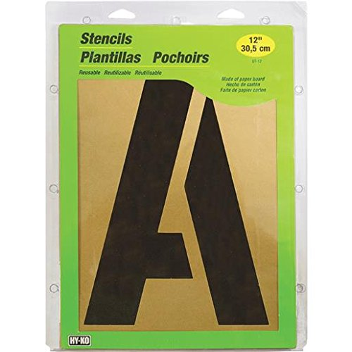 HY-KO Products ST-12 Number & Letter Large Stencils, 12''