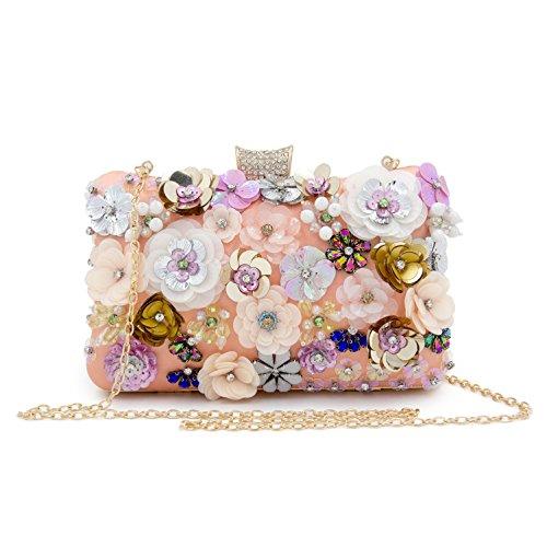 sacs Kys De Arc Imitation cristal ciel B Mariage fleur Sac en Soirée Femme Perle Strass Pochettes Polyester 6wI6Hr