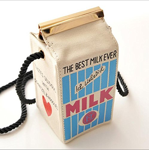 Popular Girls Peculiar Canvas Shoulder Bag Women Milk Cartons Crossbody Bags - Glasses Hippie Nz