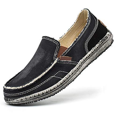 Tamaño Punta Shoes color Redonda U Antideslizante Casual Qiusa tip Jean Suelas Eu Suaves Negro Men For 40 Classic ZgZAqBp