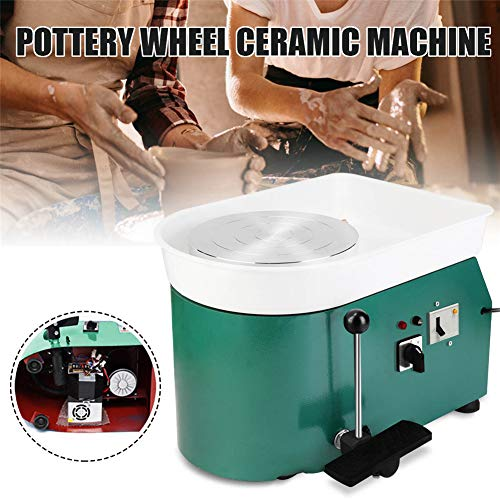 NAIZEA Electric Pottery Wheel Machine with Adjustable feet, 9.8 Inch Pottery Wheel DIY Machine for Clay Art Craft Ceramic Work, 110V250W (Green) by NAIZEA (Image #2)