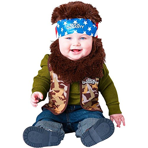 Duck Dynasty Baby Infant Costume Willie (Brown Beard & Bandana) - Infant X-Small