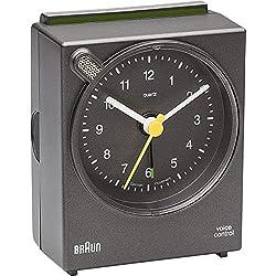 Brown Quartz Alarm Clock Analogue, Grey BNC004GYGY