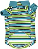 Cheap East Side Collection ZM3023 10 16 Brite Striped Polo Top for Dogs, X-Small, Bluebird