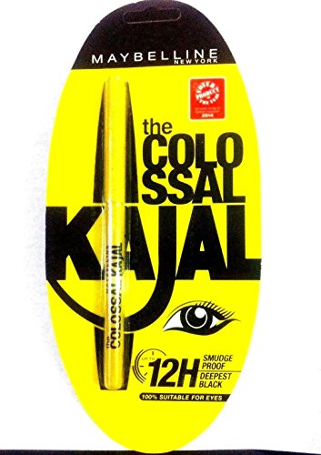 (Buy 5 Get 2free) Maybelline Newyork Colossal Kajal Kohl Black Smudge Resistant