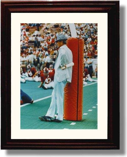 Framed Alabama Crimson Tide Football Bear Bryant Goalpost Photo (Paul Bear Bryant Pictures)