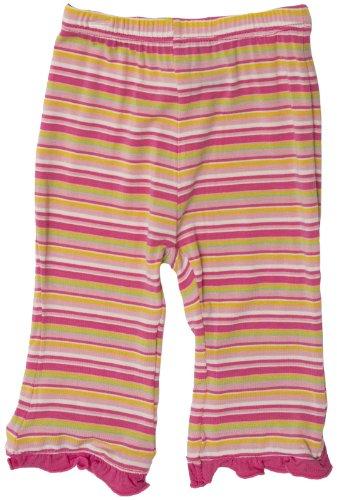 KicKee Pants Baby Girls' Print Ruffle Pant (Toddler/Kid) - Island Stripe - 2T