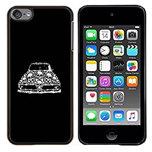 Planetar® ( Roca Cráneo Negro Sombras frío metal Infierno ) Apple iPod Touch 6 6th Touch6 Fundas Cover Cubre Hard Case Cover