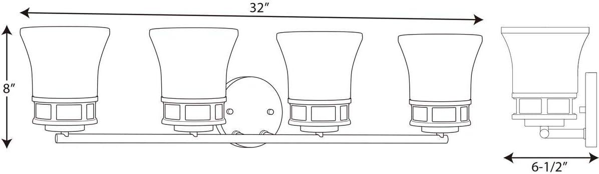 Polished Chrome Progress Lighting P2148-15 Traditional//Casual 3-100W Med Bath Bracket