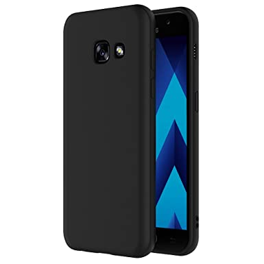 new style 95464 8a910 Samsung Galaxy A5 2017 Case, AICEK Black Silicone Cover for Galaxy A5 2017  Black Case A520
