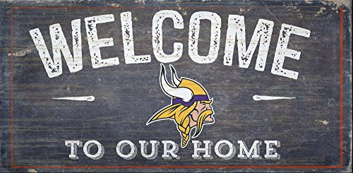 Fan Creations Welcome Minnesota Vikings Distressed 6 x 12 Multi