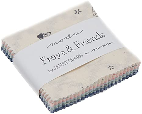 Freya & Friends Mini Charm Pack por Janet Clare; 42 – 2,5