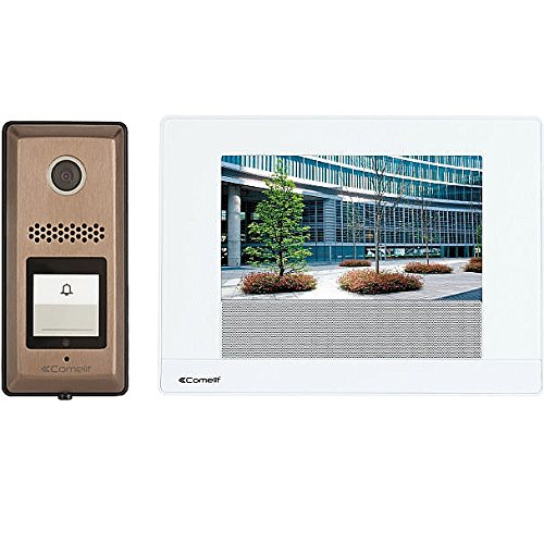 """Expandable Video Intercom Kit (Comelit 7"""" Touch-Screen Video Intercom Kit Expandable to 4 Door Bells and 8 Monitors With Video Recording, Built in Door Release and Call Forwarding to Mobile Phone)"""