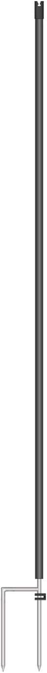 90 cm Above Ground 105 cm Long Black VOSS.farming Electric Fence 5x Replacement Posts Euronet 2 Spikes for Extra Stability