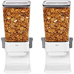 OXO Good Grips Countertop Cereal Dispenser, Clear/White (Pack of 2)