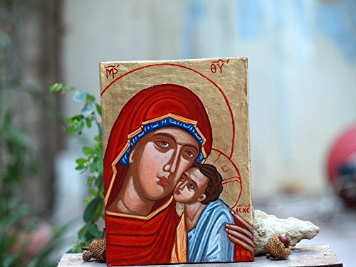 Holy Mother of Mercy Theotokos Eleousa- Madonna and Child orthodox catholic gift by Angelicon