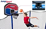 JumpSport Proflex Basketball Hoop Accessory & Inflatable Ball for Trampoline   Fits AlleyOOP, Elite Classic Safety Enclosures (Classic)   Trampoline Sold Separately