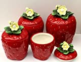 3-D Strawberry 4-piece Canisters Set, 83501