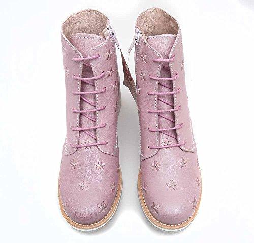 Brako Stiefel Boots rosa rose 8437 military Leder Blumen