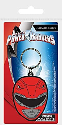 Pyramid International Power Rangers Ranger Rojo Casco de Goma Llavero, 4,5 x 6 cm