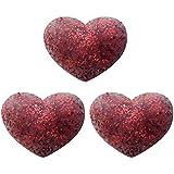 3 del corazón del brillo Tenis humidificador roja Antivibradores