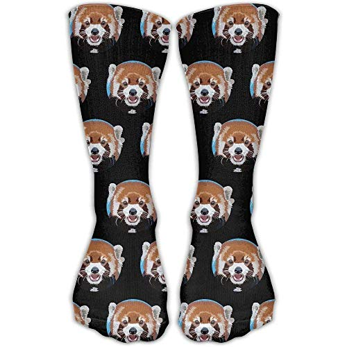 Custom Funny Stockings ETcRe Red Panda Circle Crew Ankle Dress Girls Boys Knee Travel Breathable ()