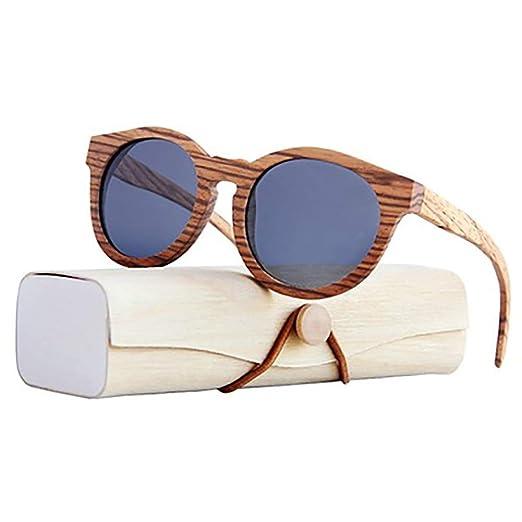 H-O Gafas de Sol de Madera/bambú Unisex, Gafas de Sol de ...