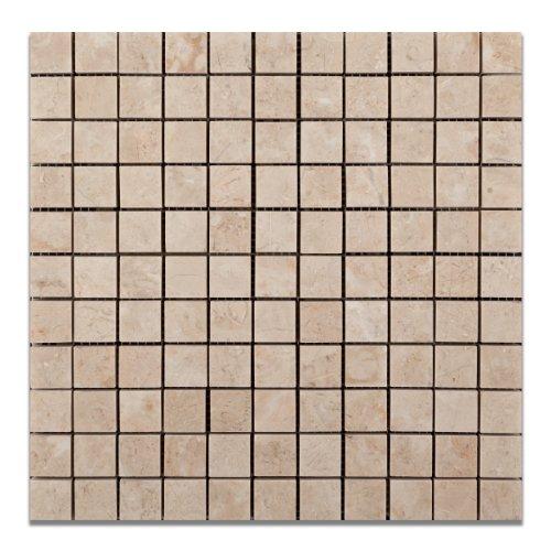 "Bursa Beige / Sandy Beige Marble 1 X 1 Polished Mosaic Tile - 6"" X 6"" Sample"