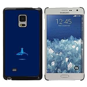 Stuss Case / Funda Carcasa protectora - Alien Abducted Blue Whale - Funny - Samsung Galaxy Mega 5.8