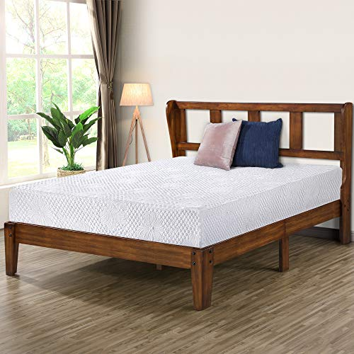 Olee Sleep VC40SF02Q 14 Inch Deluxe Platform Headboard,Wood Bed Frame, Queen, Natural