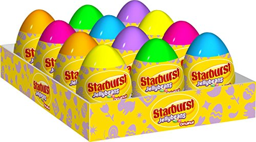 (Starburst Original Jellybeans Easter Candy Filled Eggs, 1.6 Ounce Easter Eggs (Pack of 12)