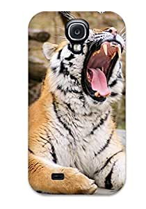 Best 4070171K36647191 New Style Hard Case Cover For Galaxy S4- Tiger Roaring