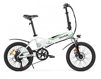 Bicicleta ELECTRICA Plegable Mod. Traveller (Blanco BATERIA 12Ah)