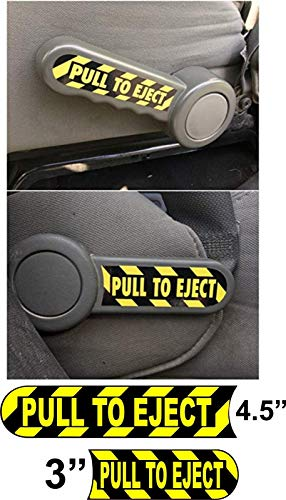 Crazy Discount Vinyl Sticker Decal Pair of Pull to Eject Seat Handle Jeep Wrangler Set JK TJ CJ