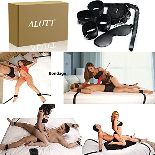 Sex Straps for Under Bed Restraints Bondageromance Sex Play BDSM SM Bondage Restraining Fetish Fur Game Tie up Handcuffs Mattress Harness Things Blindfold Whips Toys Adults Kit Couples Women Men by ALUTT (Image #6)