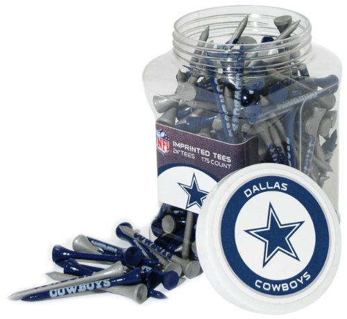 "Team Golf NFL Dallas Cowboys 2-3/4"" Golf Tees, 175 Pack, Regulation Size, Multi Team Colors"