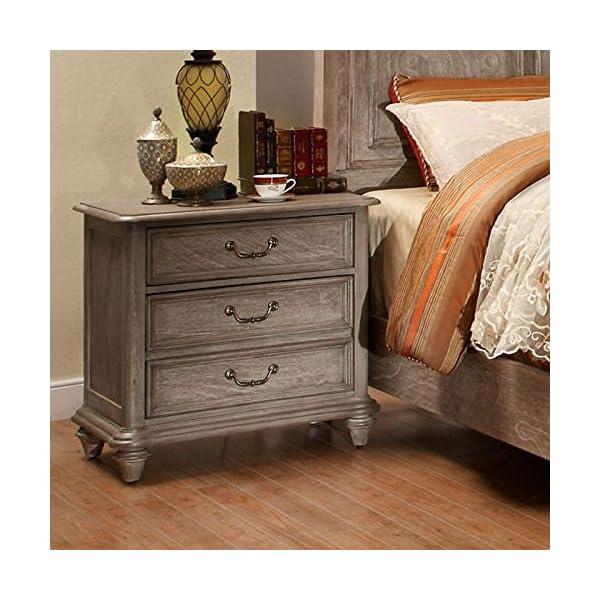 Belgrade II Transitional Style Rustic Weathered Oak Finish Cal King Size 6-Piece Bedroom Set