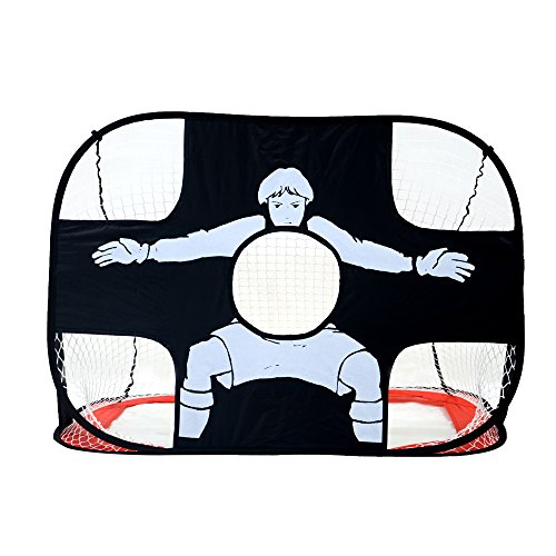 Poray Multifunctional 2-in-1 Pop Up Goal,Target Training reversible Portable Soccer Hockey Sports for - Field Goal Portable Hockey