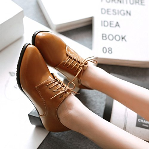 Zapatos brown Sandalette Mujer Pointy College DEDE Ladies Casual de Zapatos Shoes Casuales Zapatos Shoes 7x8O7rw