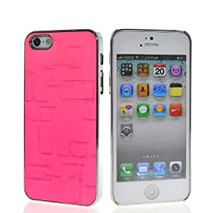 SHOPPINGBOX Luxury Chrome Plated Hard Back Cover Case With 1x Screen Protector For Apple Iphone 5 5G 5th Babypink