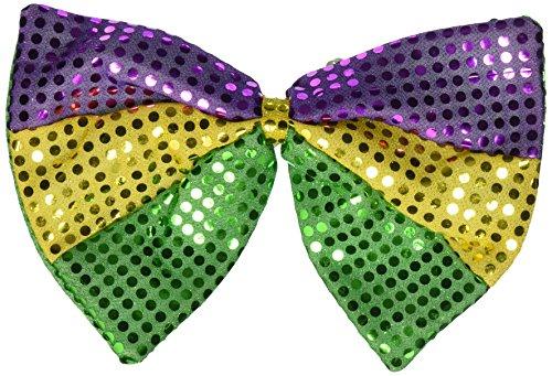 Beistle 60733 Jumbo Mardi Gras Glitz 'N Gleam Bow Tie, 81/2-Inch by 11-1/2-Inch (Festive Costume)