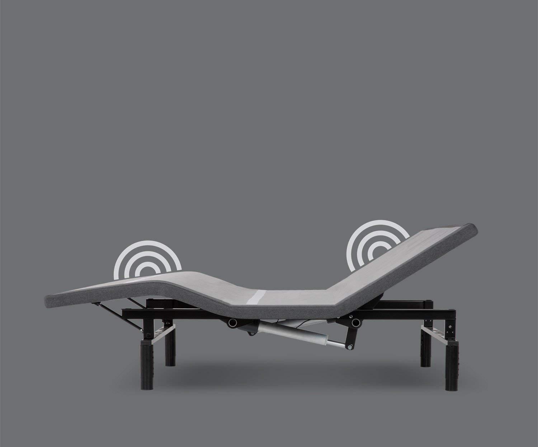Leggett Platt Adjustables Simplicity 3.0 Adjustable Bed Base, Split King, Wireless, Full Body Massage, Zero Gravity, Night Light