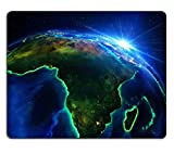 MSD Natural Rubber Mousepad land area in Africa the night IMAGE 33968918