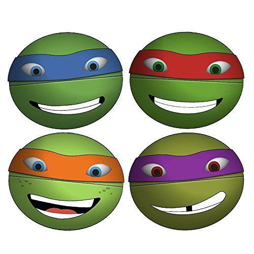 All The Ninja Turtles Characters ((Set/4) Teenage Mutant Ninja Turtles Snack Spheres Comes w/ All 4 Characters)