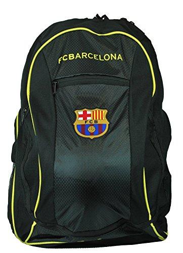 FC Barcelona backpack school mochila bookbag cinch shoe bag official Messi 10 (Black)