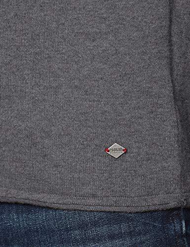 solid Grau Grey grey Pull Homme Melange 8236 Mel 6182715 1rCwqtr