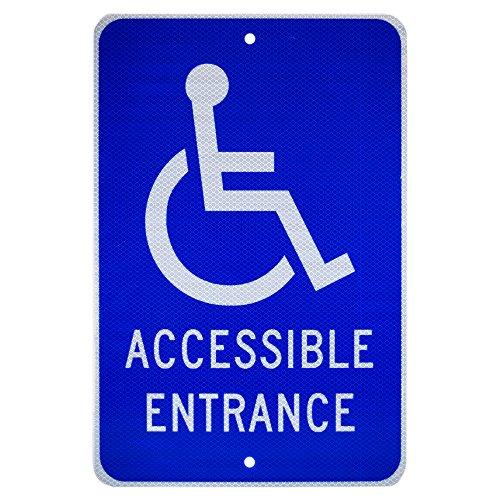 Handicap Traffic Sign - NMC TM149J Handicap Parking Sign, Legend