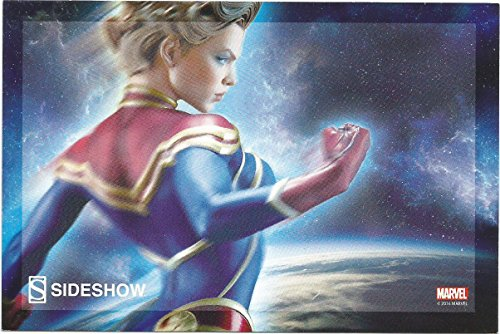 Captain Marvel POST CARD by Sideshow Collectibles SD Comic Con 2016