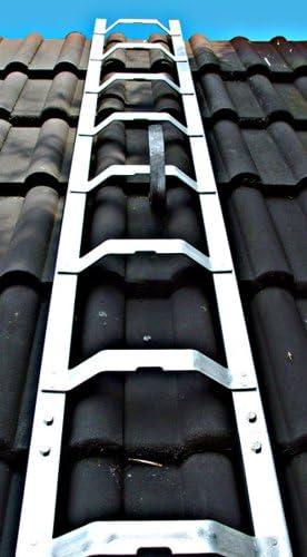 Dachleiter Aluminium 6,51 m Dachdeckerauflegeleiter 24 Sprossen, gewölbte Bremer Sprosse, nach BGR 203