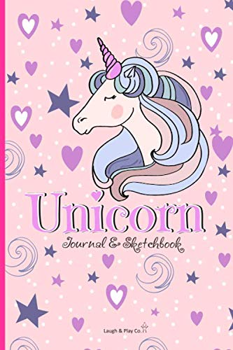 Unicorn Journal and Sketchbook: Perfect Unicorn Journal for Girls to Doodle, Sketch and Write – Lined Notebook for Girls…